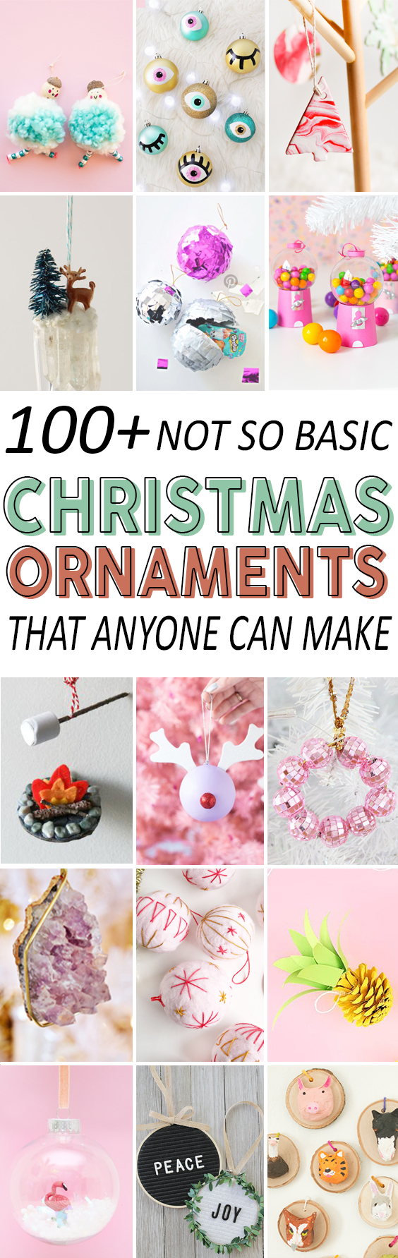 100+ Christmas Ornament DIY Tutorials Anyone can Make