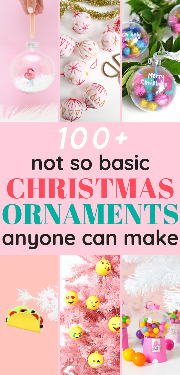 Check out these 100+ unique Christmas ornaments you can DIY! They're super cute and creative!