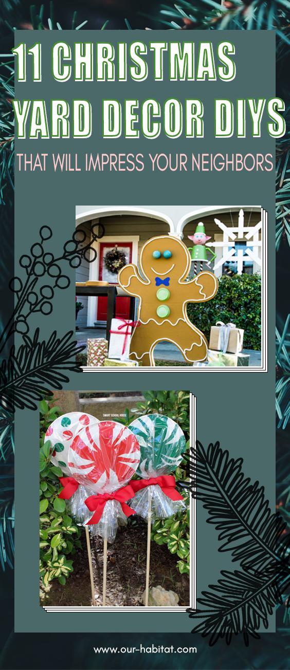 11 Christmas Yard Decor DIY Ideas That Won't Break The Bank
