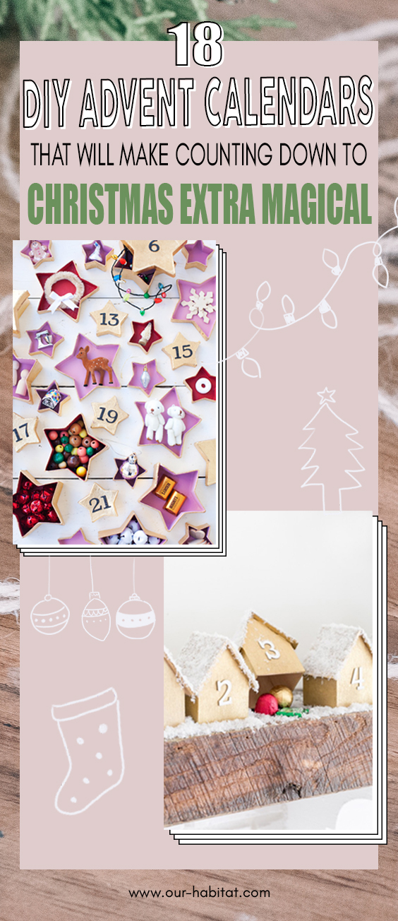 DIY advent calendars you should make this year to help you countdown to Christmas!!