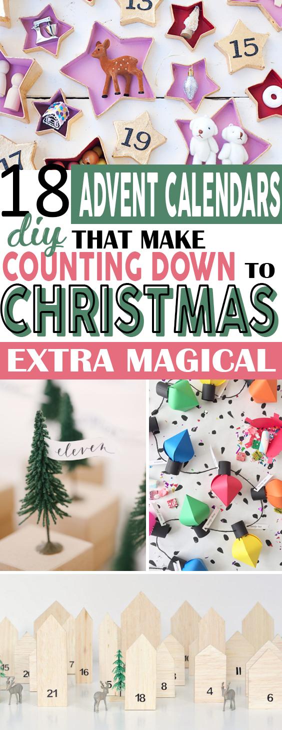 Here is a list of the best Christmas DIY advent calendars ideas you should make this year! #Christmas #diy #adventcalendars