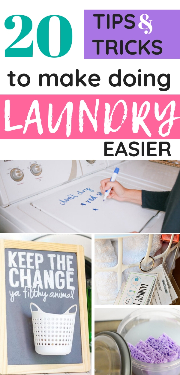 Check out these life-changing tips and tricks to make doing laundry easier!
