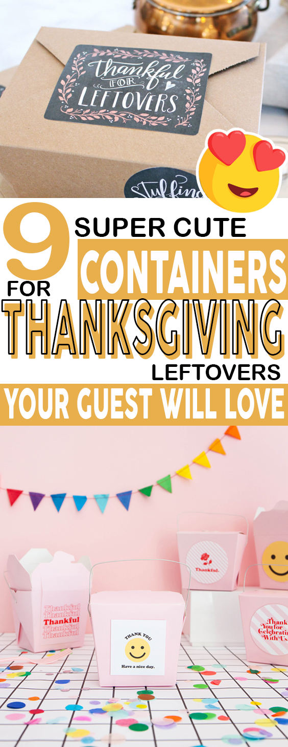Check out these adorable DIY containers for Thanksgiving leftovers! #thanksgiving #diy