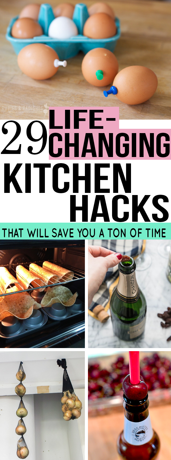 A list of 29 kitchen hacks that will make cooking easier!