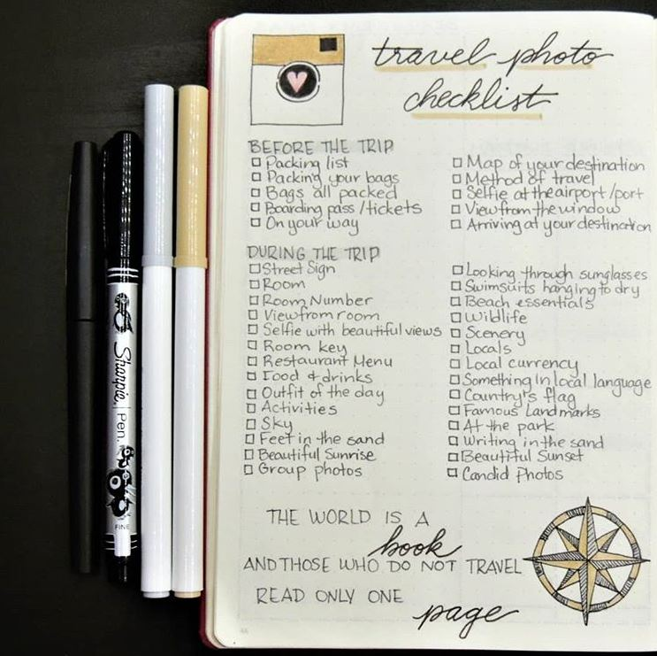 13 Creative Bullet Journal Ideas for Traveling \u2014 Our Habitat