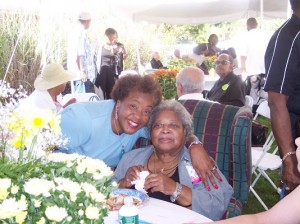 left: our family member Cousin Flossie and right: Mrs. Daisy Berry, my mom-mom. This was at her birthday party a few years back.