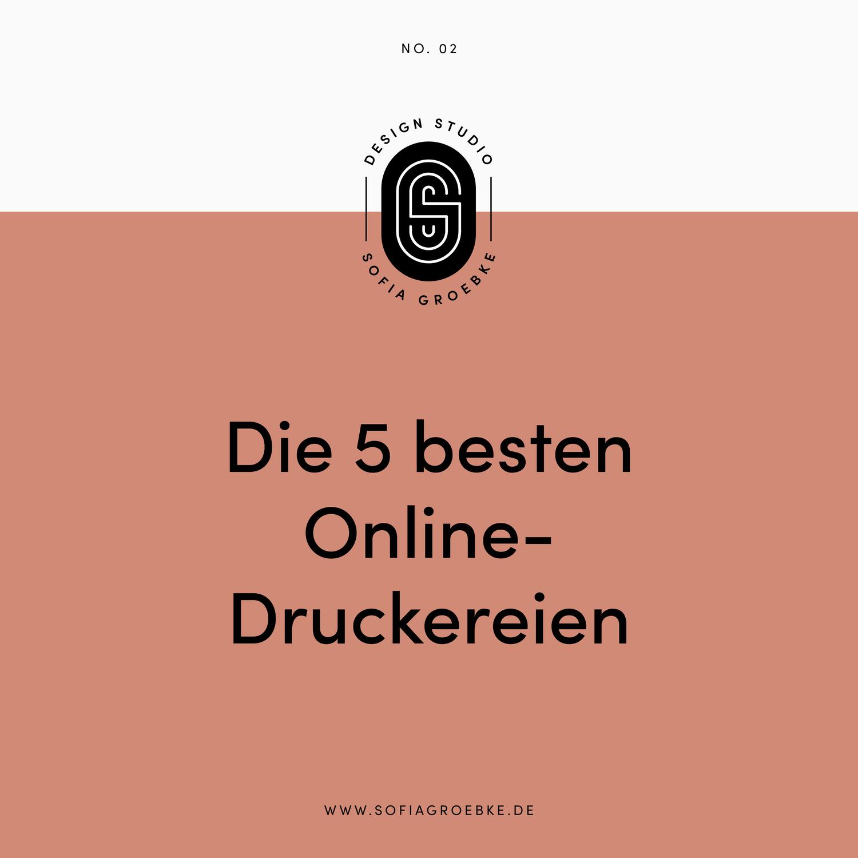 Die 5 Besten Online Druckereien Design Studio Sofia Groebke