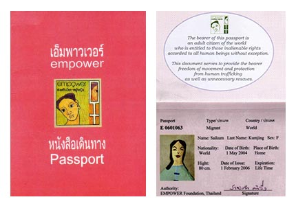 The bearer of this passport is an adult citizen of the world who is entitled to those inalienable rights accorded to all human beings without exception. This document serves to provide the bearer freedom of movement and protection from human trafficking as well as unnecessary rescues.