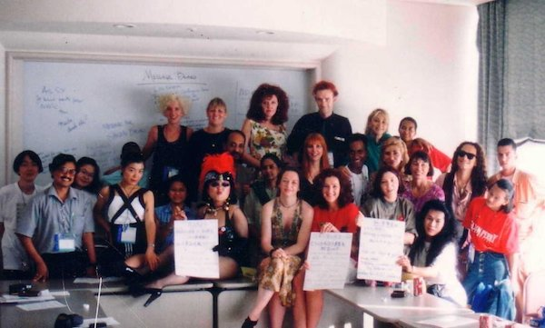 Group photograph of participants in a meeting at IAC 1994.