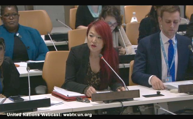 Jules Kim speaks at the UN, 19 May 2016