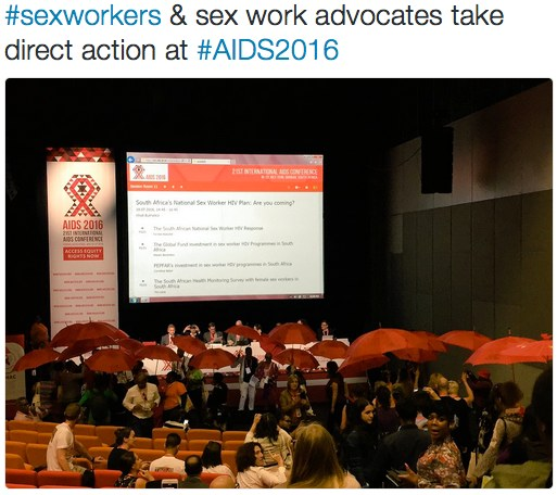 Sex workers and sex work advocates take direct action at #AIDS2016