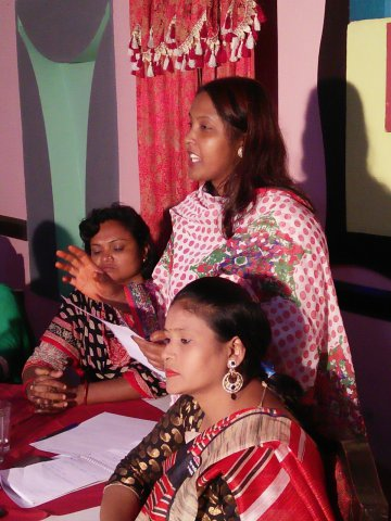 indoor photo of participants at SWIT training in Dhaka