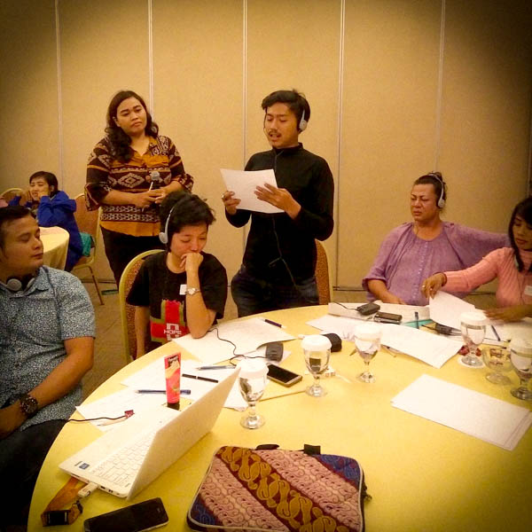 A participant shares feedback at the training