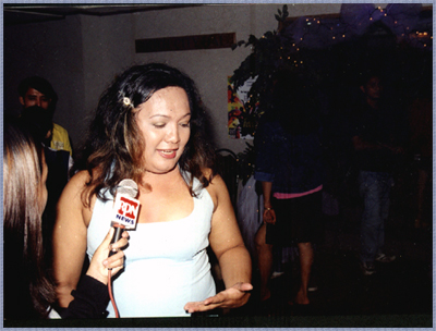 Tonette Lopez, media interview