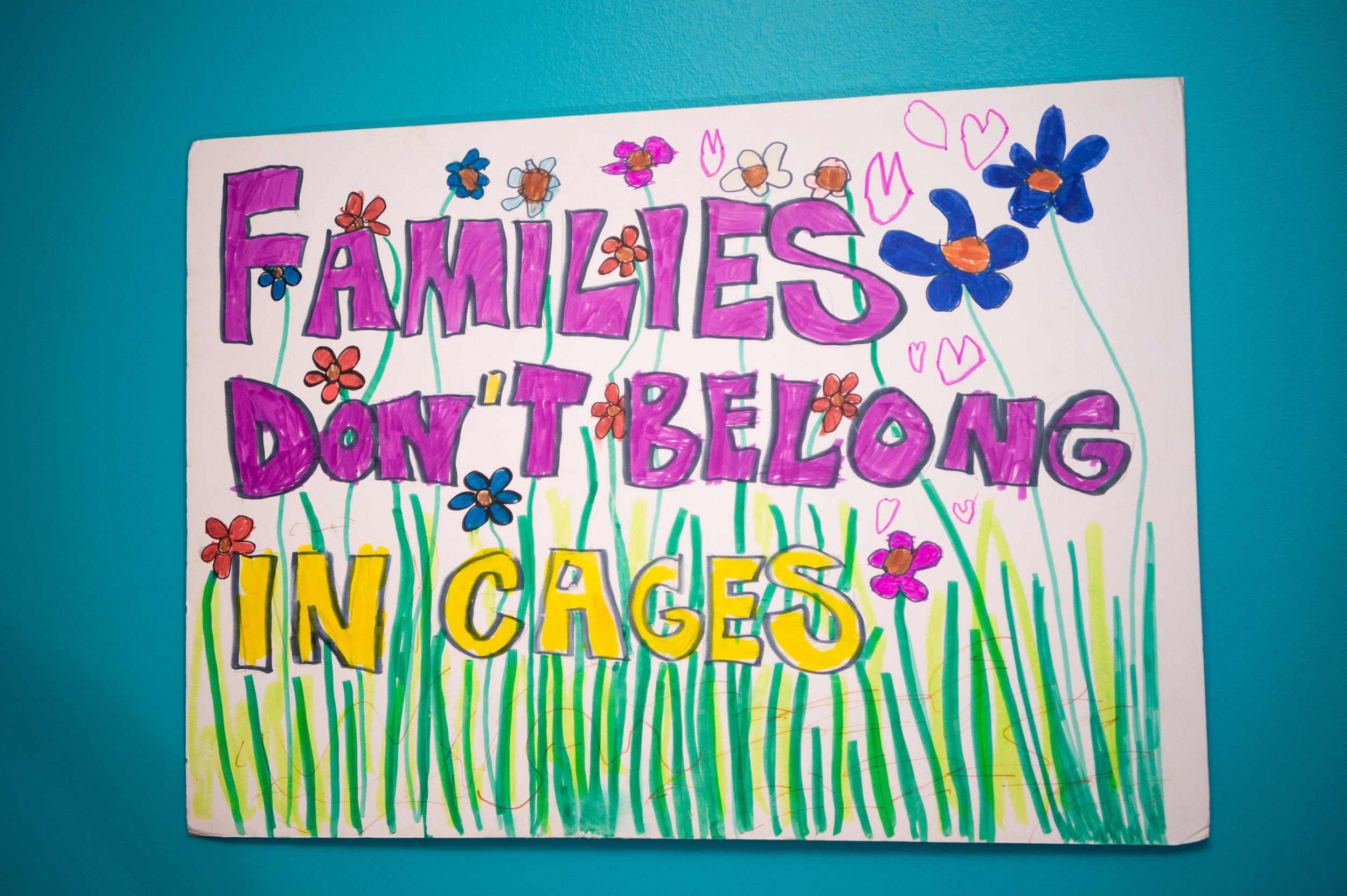 Families don't belong in cages poster