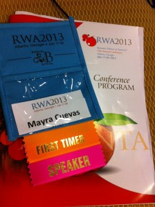At the Romance Writers of America Conference in downtown Atlanta.