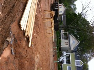 What our new house currently looks like. A pile of dirt and boards.