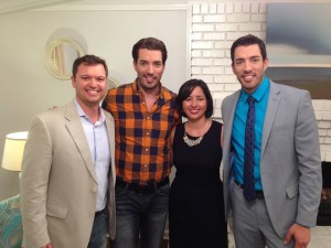 Hanging out with the Property Brothers after they renovated our home.