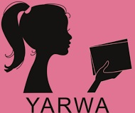 YARWA pink and black words