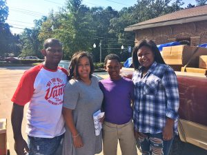 This family drove for an hour from Toccoa, GA to bring supplies.