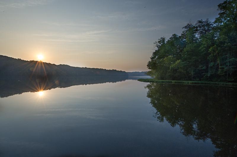 Sunrise at Burke Lake - Two Suns