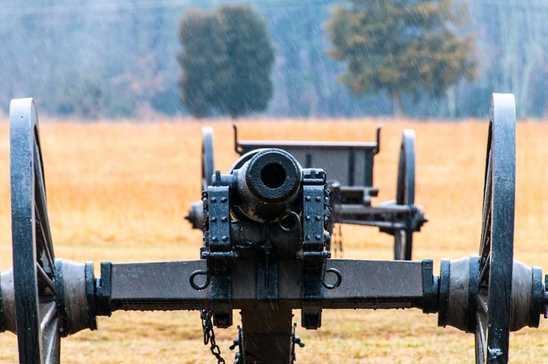 Battle of Manassas - Cannon in the Rain