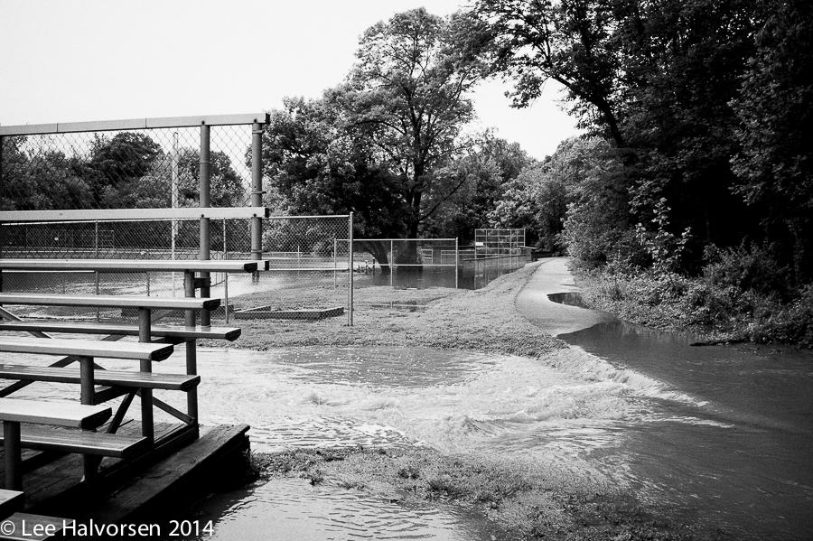 Flooded Baseball Fields