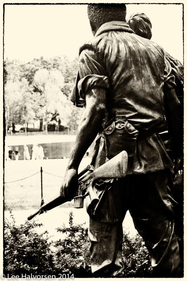 Overlooking Vietnam Memorial