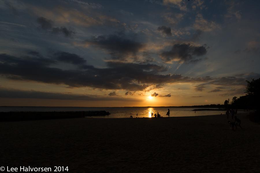 Sunset at Jamestown Beach