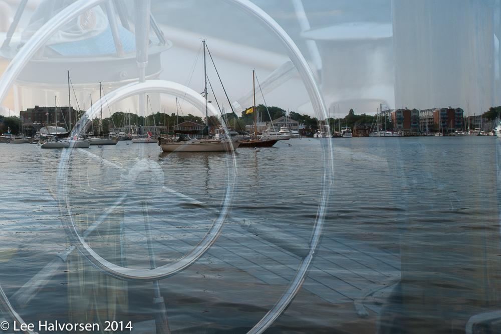 Sailboat in Annapolis Harbor