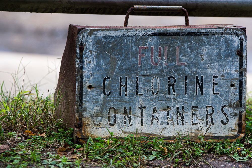 Chlorine. What did they use this thing for?