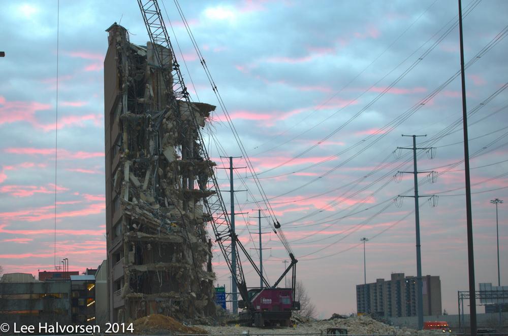 Shrinking Building At Sunrise