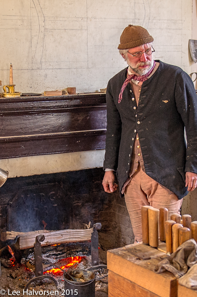 Woodworker Stoking the Fire