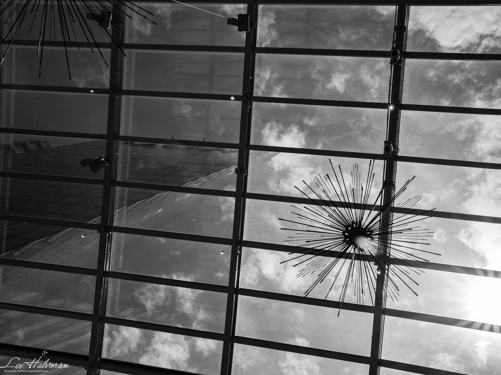 MGM National Harbor Hotel Thru Glass Ceiling