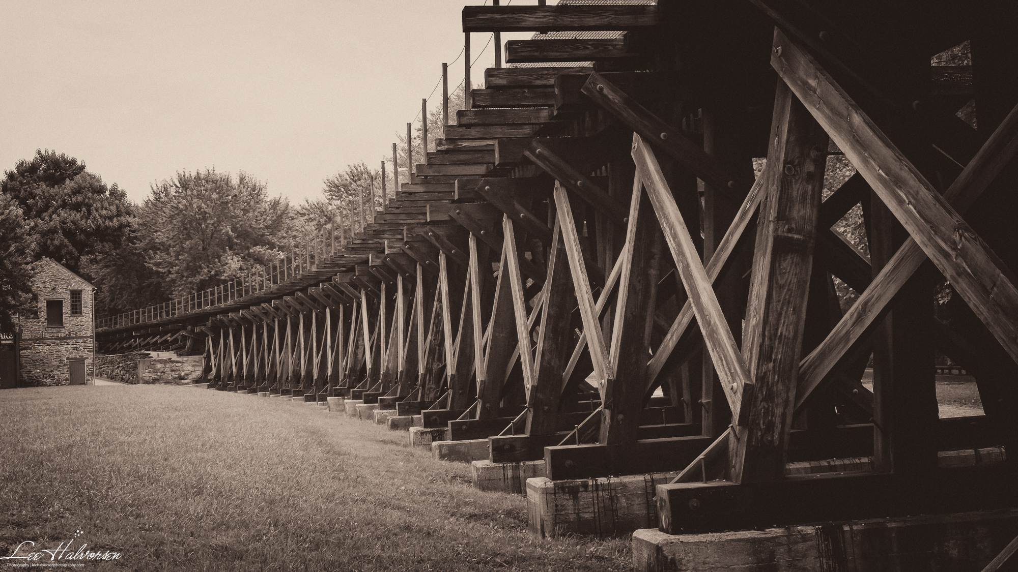 Railroad bed in Harper's Ferry, WV