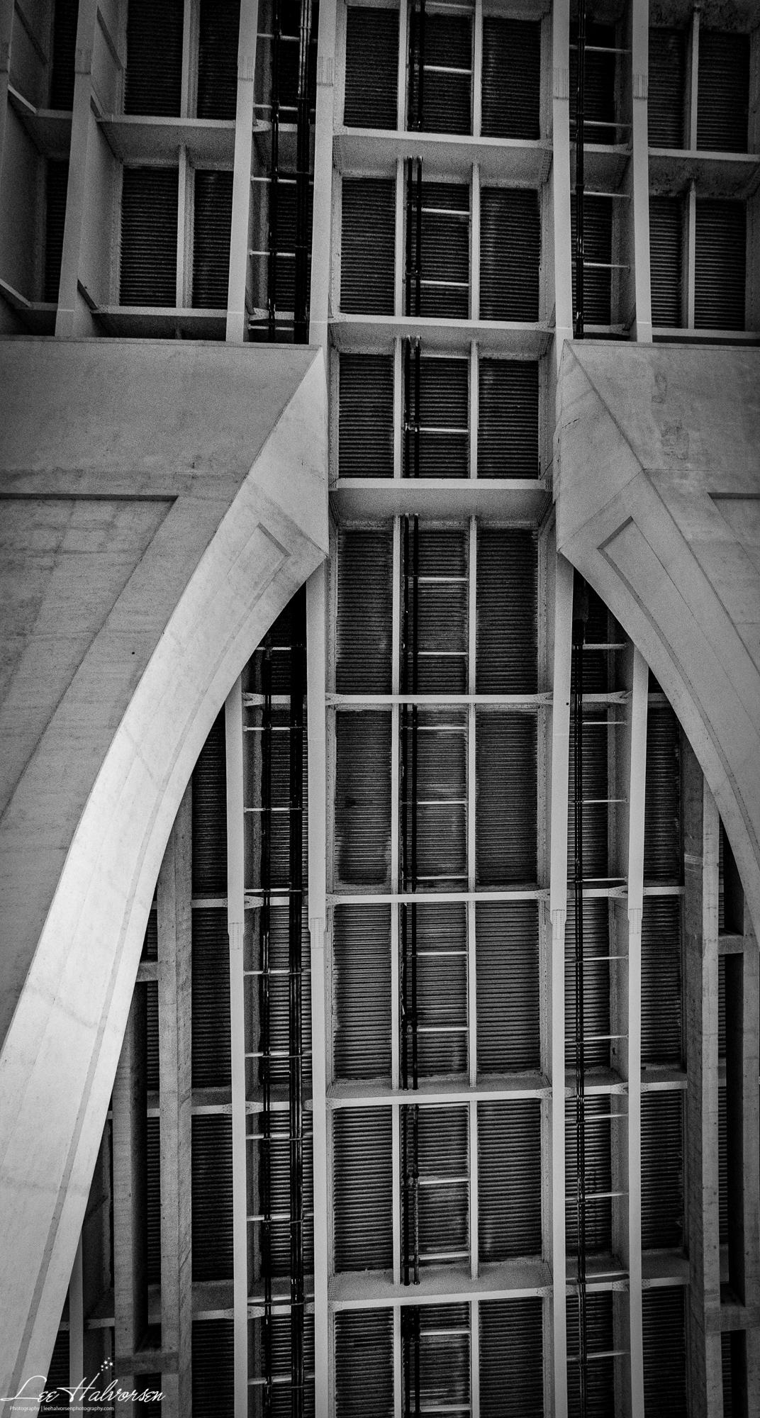 Looking Straight Up at the Woodrow Wilson Bridge