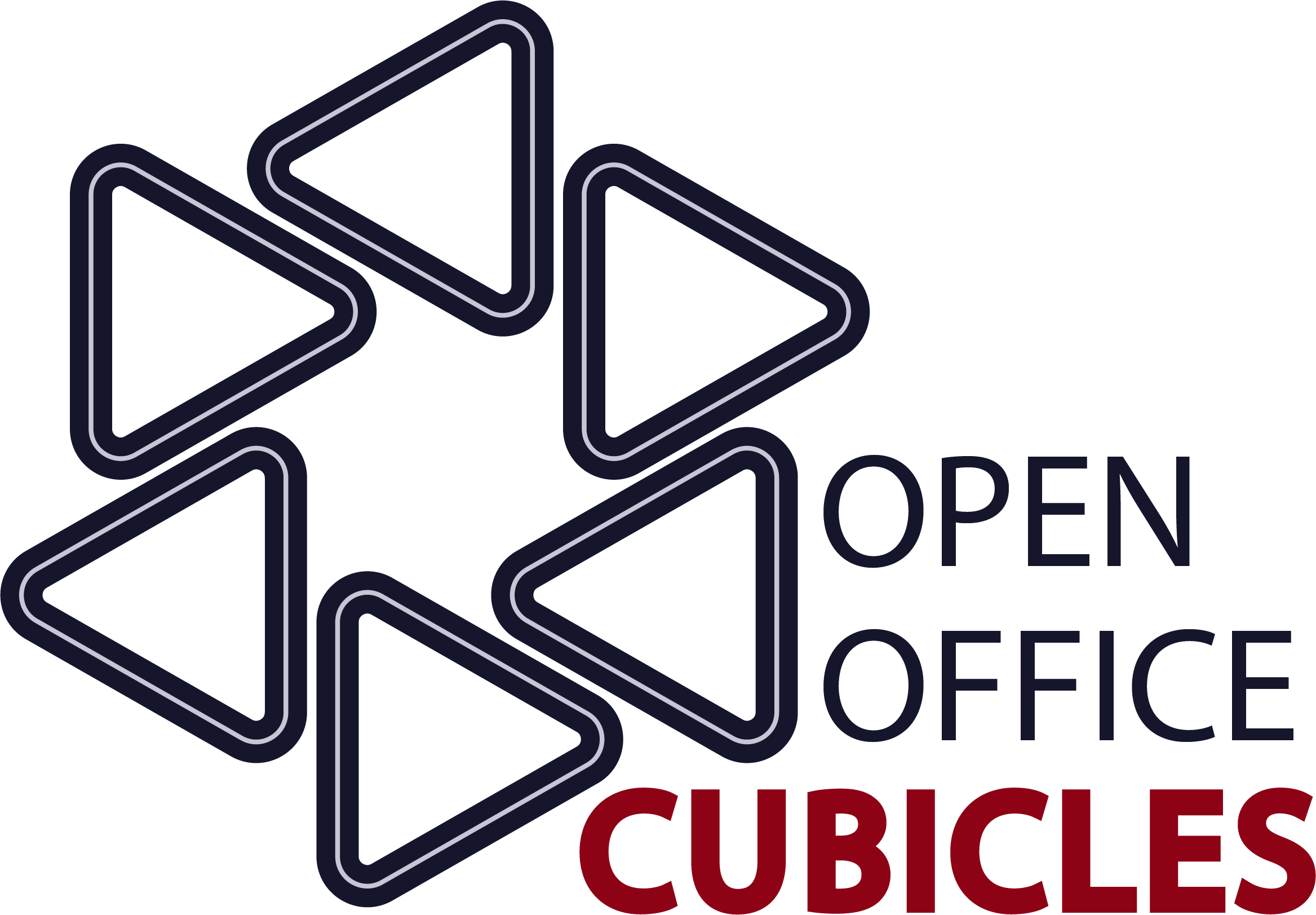 Open Office Cubicles Logo