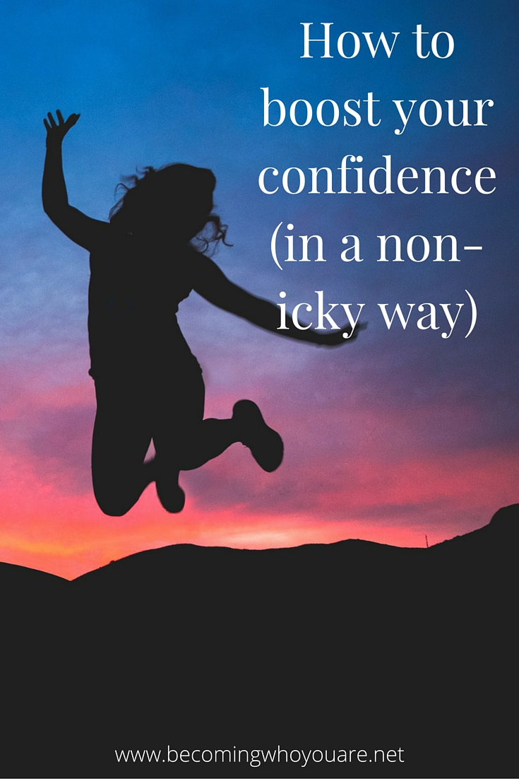 Want to feel more confident and grounded but aren't convinced by affirmations and such? Click the image to discover how to boost your confidence in a non-icky cheese-free way | www.becomingwhoyouare.net