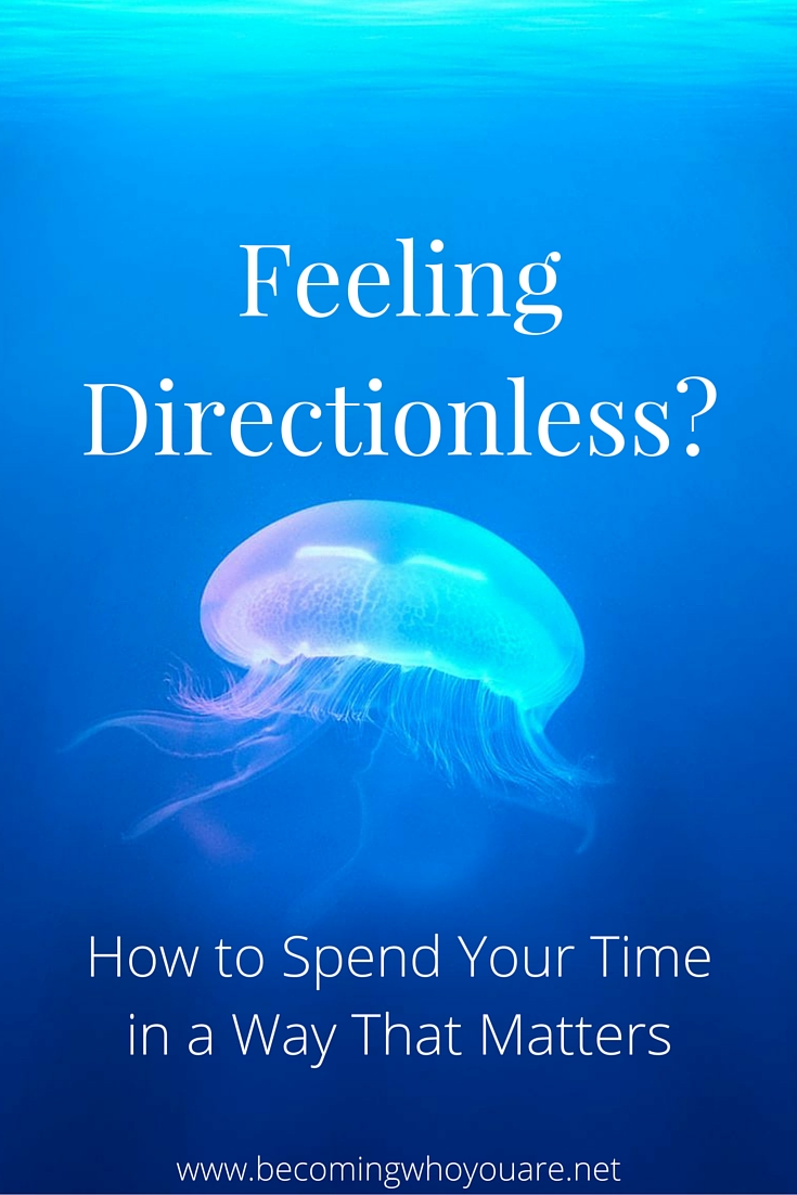 Are you feeling directionless in life right now? If so, I wrote these suggestions for you. Click through to discover how to create more meaning and purpose in your life, and spend your time in a way that matters. >>> || www.becomingwhoyouare.net