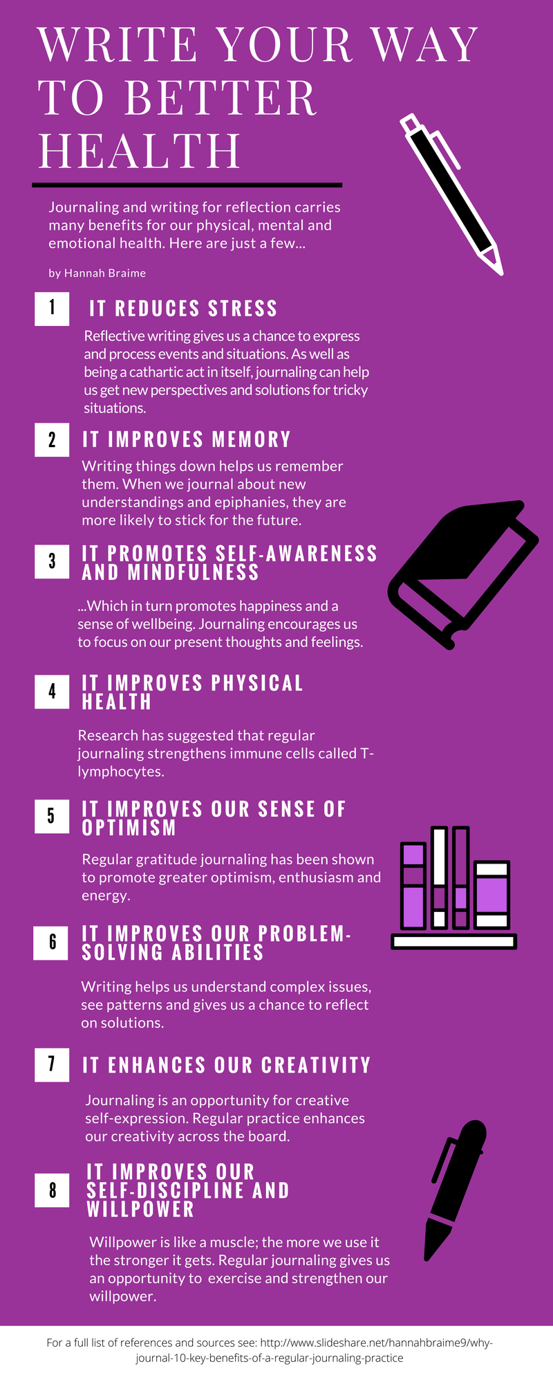 You probably know about the emotional benefits of writing, but did you know journaling can impact your physical health too? Click the image to discover more >>> | www.becomingwhoyouare.net