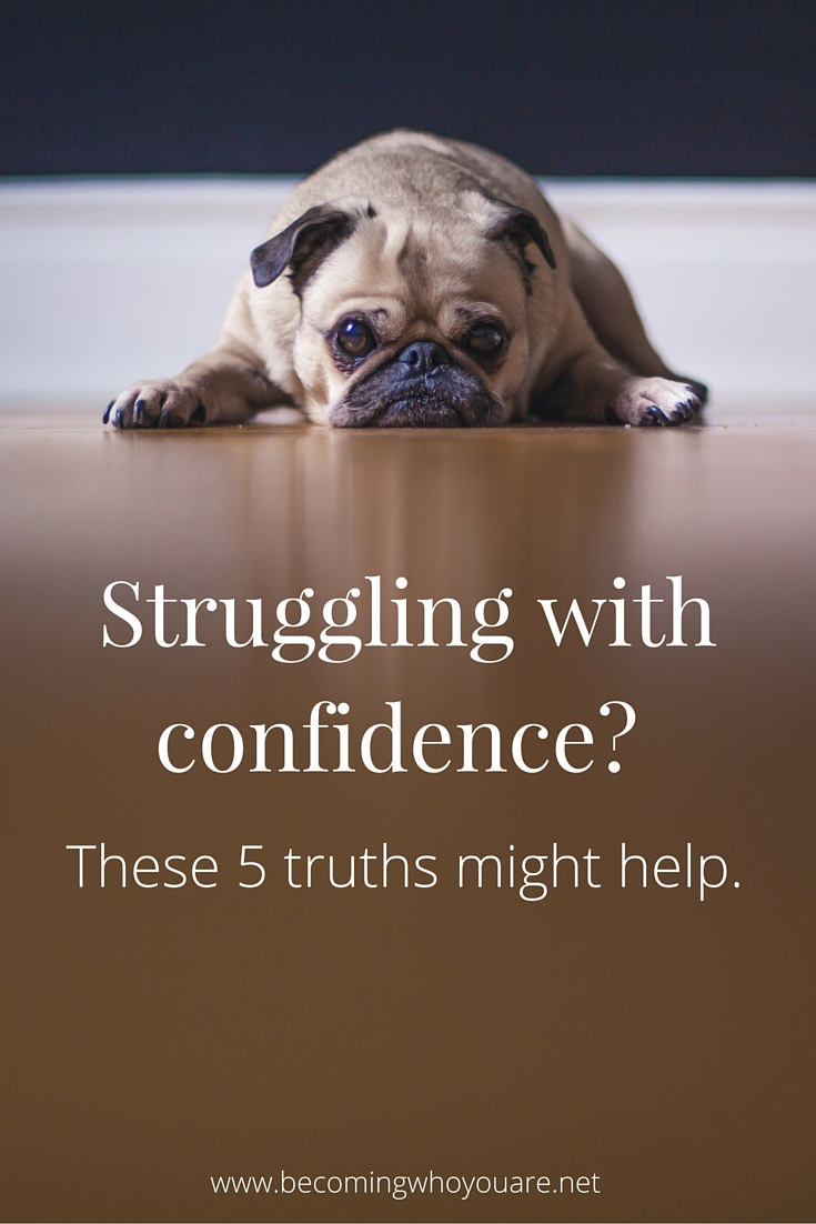 Struggling with confidence? These 5 surprising truths might help. Click the image to find out more >>> || www.becomingwhoyouare.net