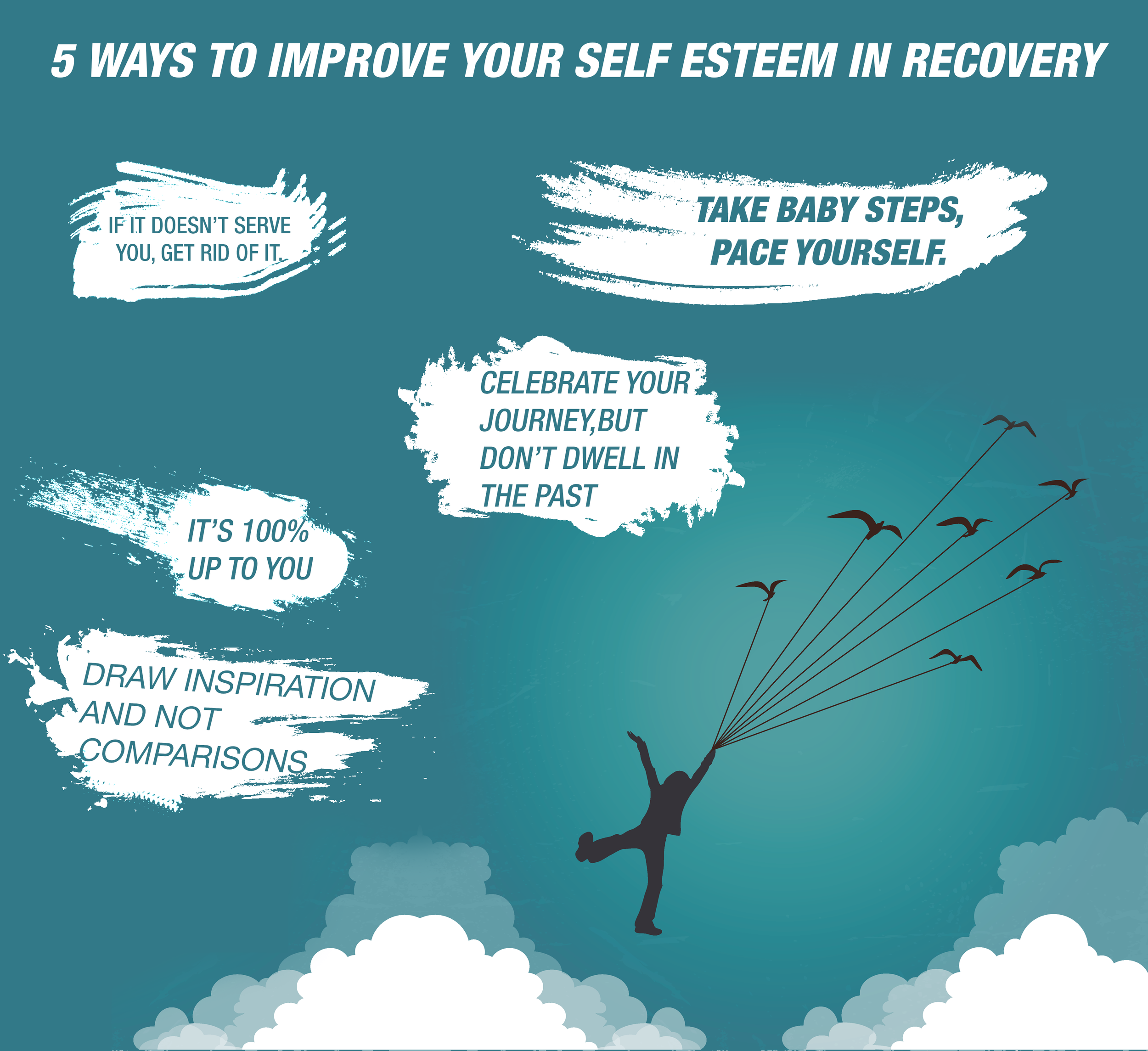 If you're in recovery, it's important to develop a healthy sense of self-esteem. Click to discover 5 ways to do just that during this important time.