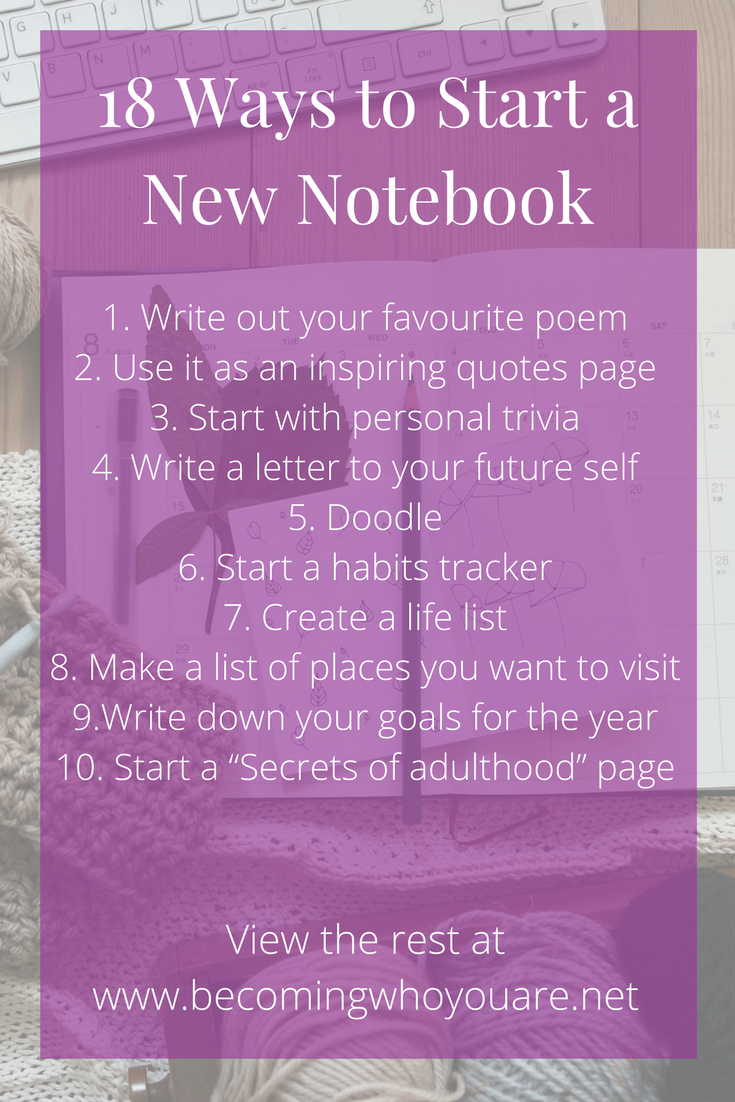 Do you open a new notebook only for your mind to go as blank as the first page? Here are 18 ways to start the first page of a new notebook.