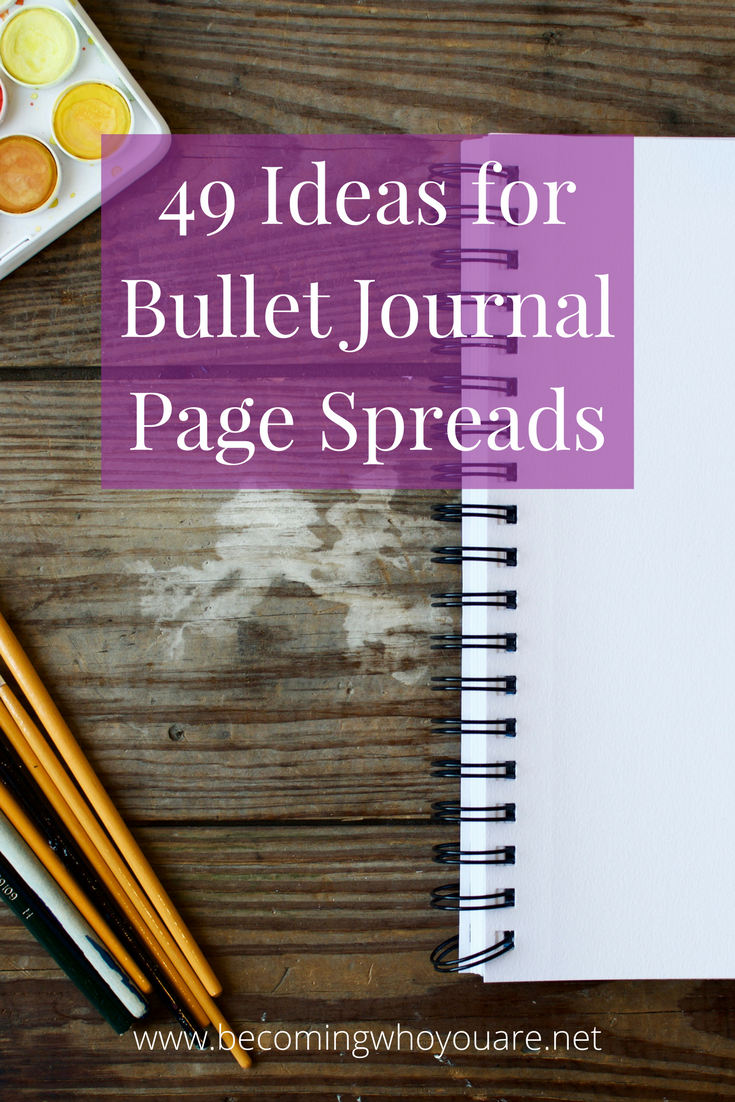 Looking for inspiration for your bullet journal? Look no further than these 49 ideas for page spreads!