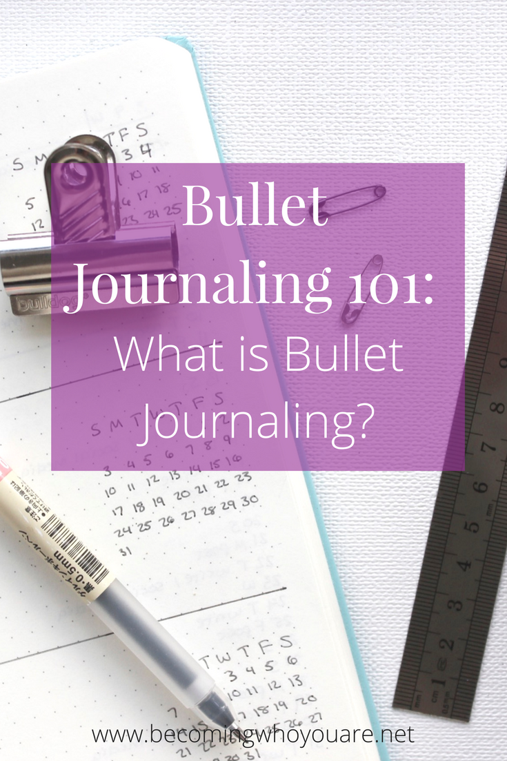 Have you tried bullet journaling? Using a bullet journal has helped me stay on top of life and enjoy some daily reflective time. IClick the image to discover more about what bullet journaling is, why it's useful and some of the key principles. | www.becomingwhoyouare.net