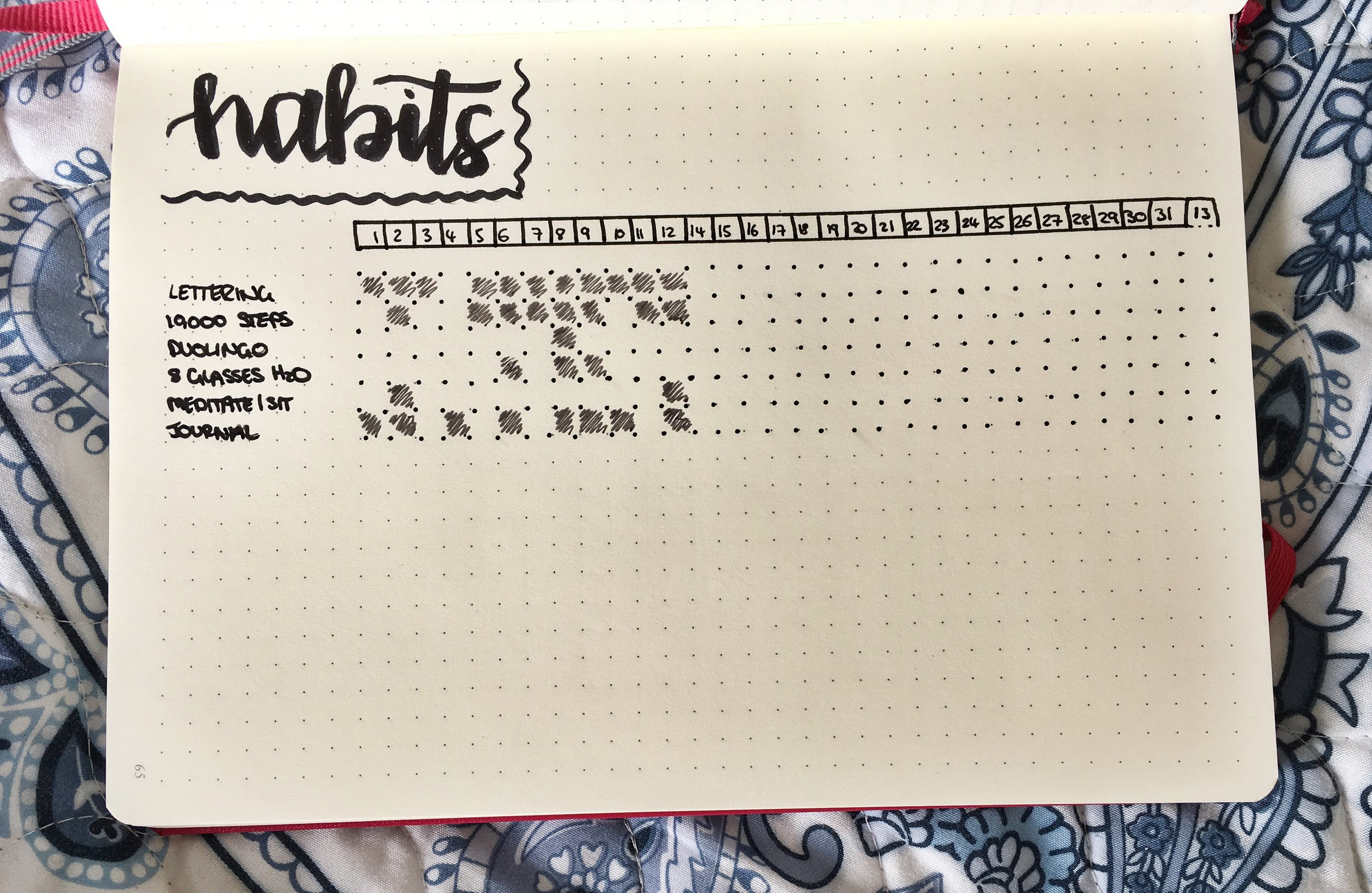 Bullet Journaling Habit Tracker