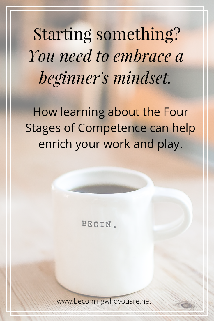 Starting something new? Keep reading to learn all about embracing a beginner's mindset and the four stages of competency