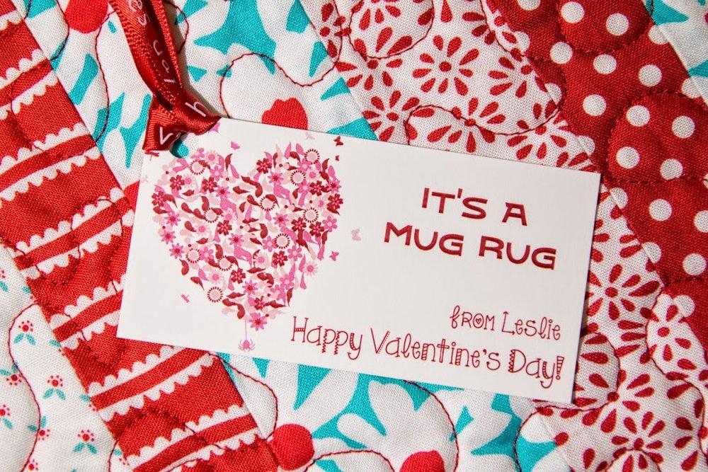 Mug Rug Valentines Leslie Unfinished