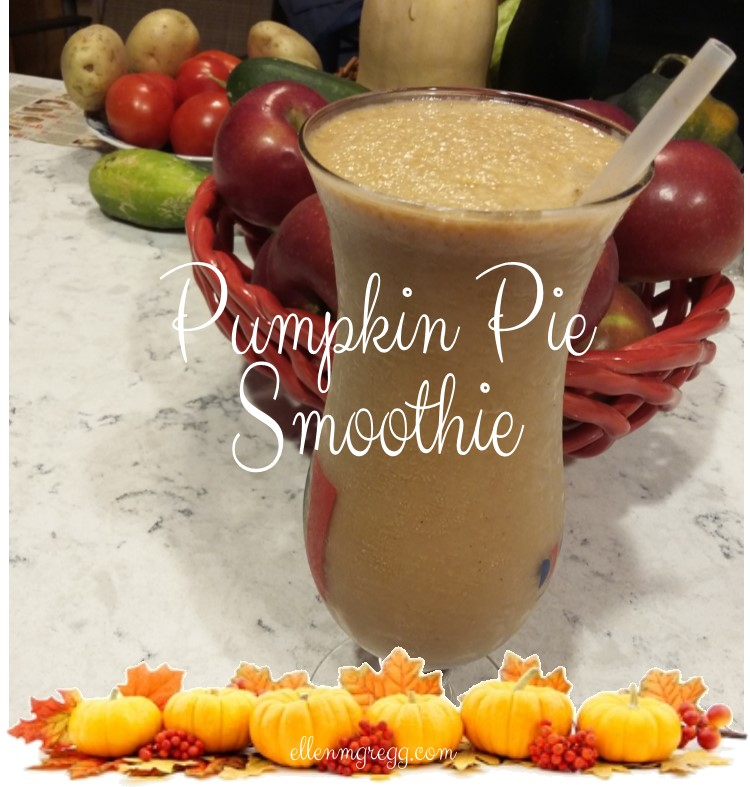 Pumpkin Pie Smoothie ~ Just five simple ingredients. One of my favorite pumpkin-in-all-the-things foods.