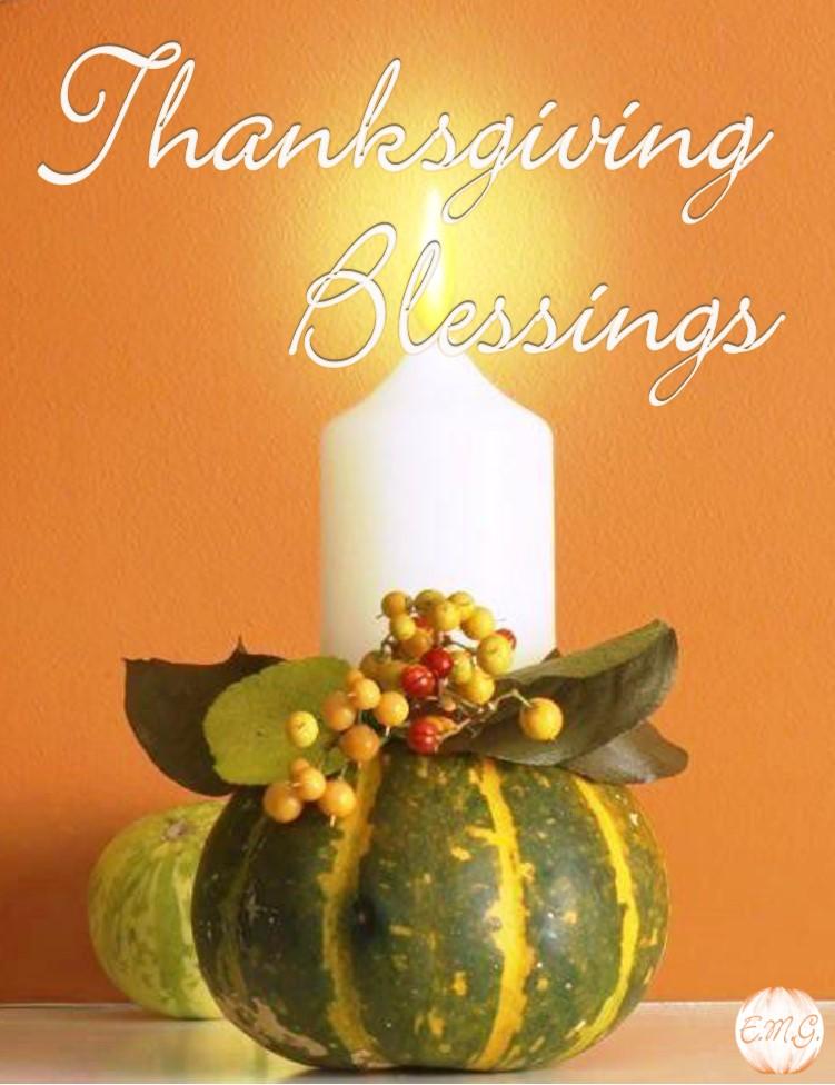 Thanksgiving Blessings ~ 5 Thanksgiving Blessings   Ellen M. Gregg